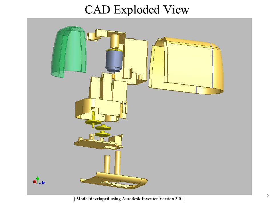 CAD Exploded View [ Model developed using Autodesk Inventer Version 3.0 ]